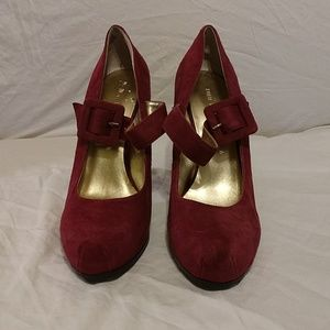Nine West Plum Suede Shoes